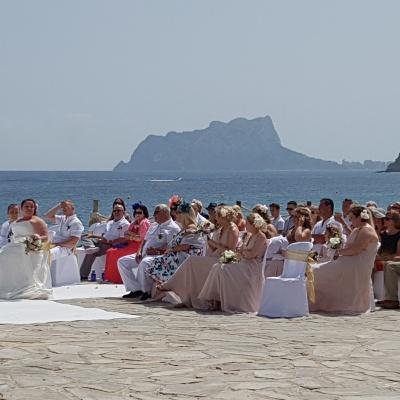 Bruiloft strand Moraira